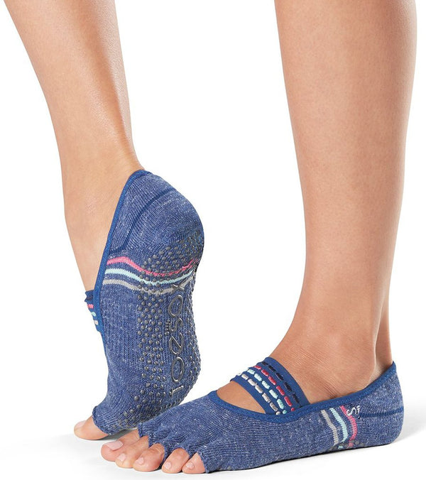Toesox Mia Half-Toe Yoga Grip Socks