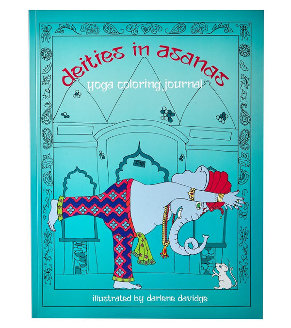 Chattra Deities in Asanas Yoga Coloring Journal