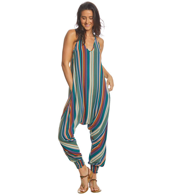 Buddha Pants Stripes Harem Jumpsuit