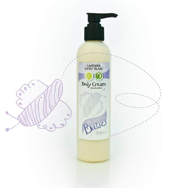 true high altitude Bulgarian lavender in an organic body cream for babies