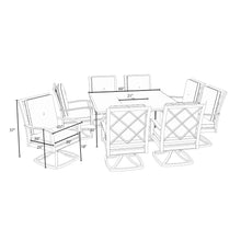Load image into Gallery viewer, Carnegie 9pc Fire Dining Set