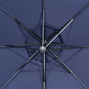 11' Sunbrella® Round Offset Umbrella - Canvas Navy