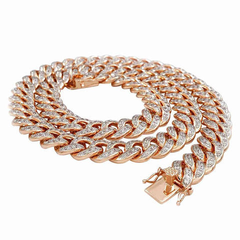 Gold Cuban Link Chain for Men 10k Stamp