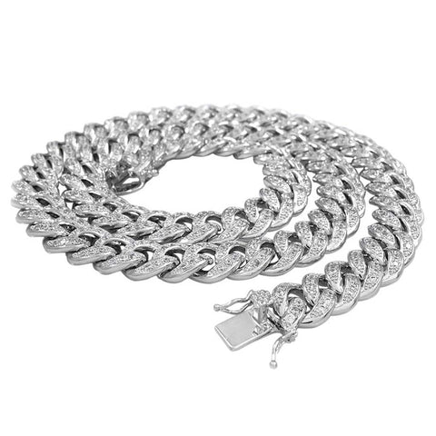 Cuban Link Chain white gold