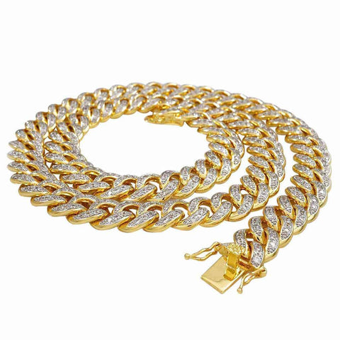 Yellow Gold Cuban Link Chain for Men