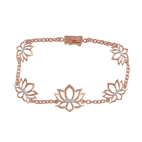 Lotus Bracelet for Women rose gold