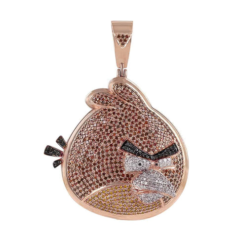 Angry Bird Necklace Pendant rose gold