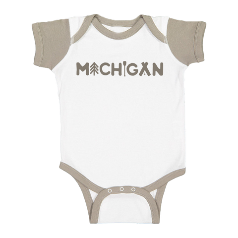 Michigan Outdoors Color Block Onesie