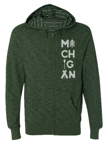 Michigan Outdoors Zip Hoodie