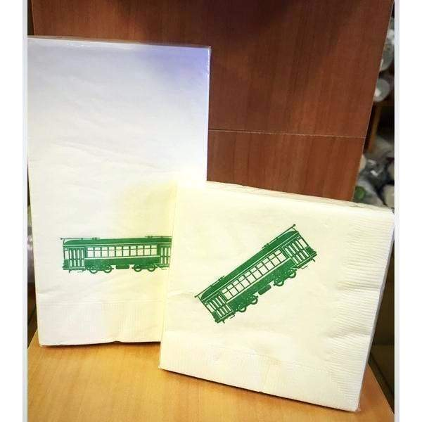 Green Streetcar Napkins & Guest Towels