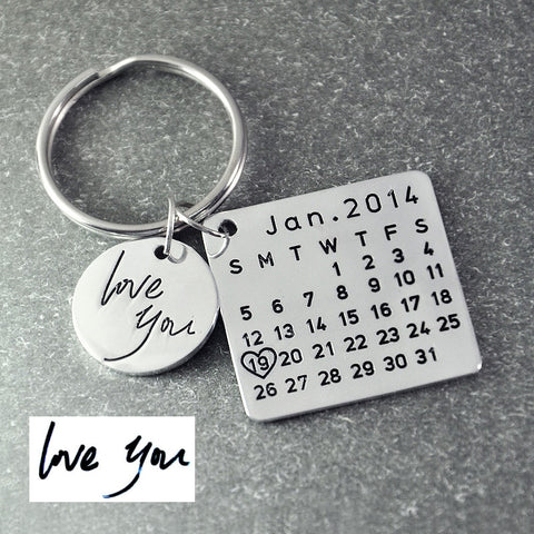 Image of Personalized Calendar Keychain