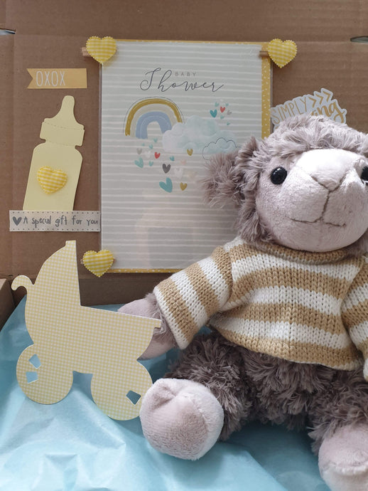 lovely lamb baby shower box