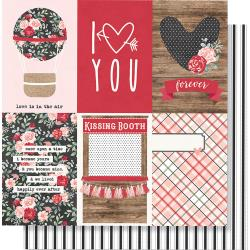 "Kissing Booth Double-Sided Cardstock 12""X12"" 4""X6"" Vertical Elements"