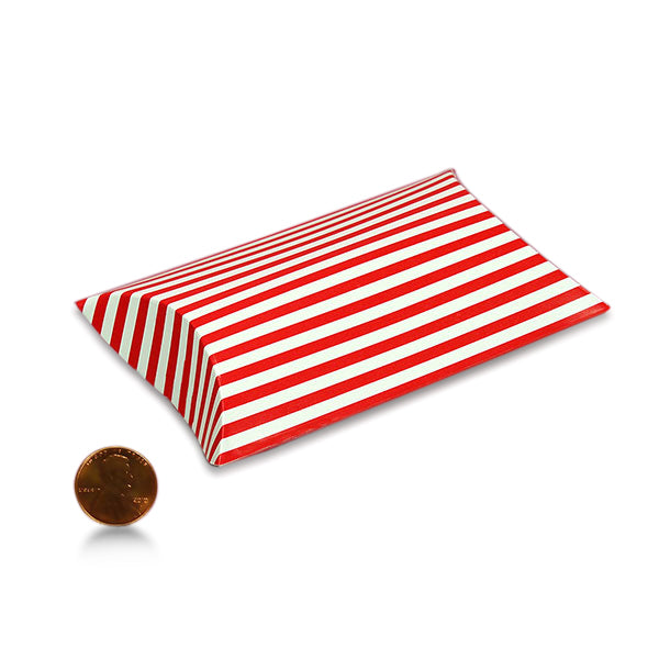 Pillow Box Red & White Stripe