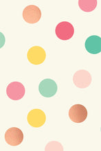 Load image into Gallery viewer, PGW305-HOORAY WRAPPING PAPER MULTI-COLOR DOT WITH ROSE GOLD FOIL