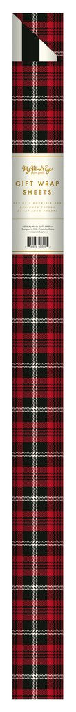 PGW310- PLAID WRAPPING PAPER TARTAN/CABANA STRIPE