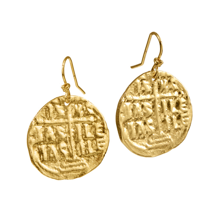 "HARPER HALLAM • ""Shake Your Money Maker"" Drop Gold Coin Earrings"