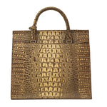 BRINDLE AND BROWN SATCHEL WITH CRYSTALS ON THE FLAP PURSE