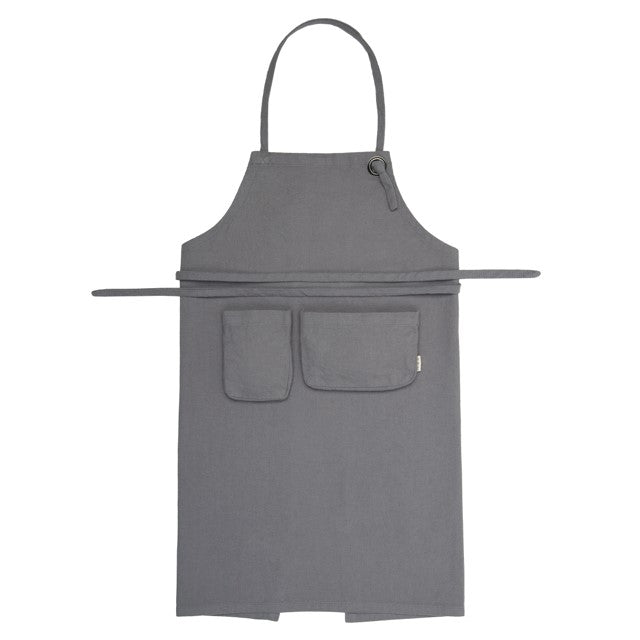 Numero 74 Organic Cotton Kids Apron  Stone Grey