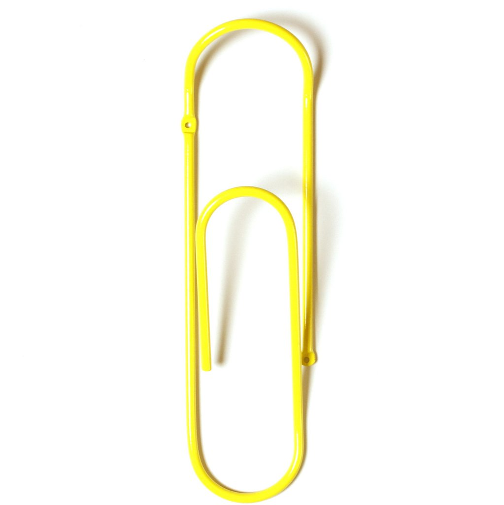 Bendo CLIP  Metal Wall Hook  Yellow