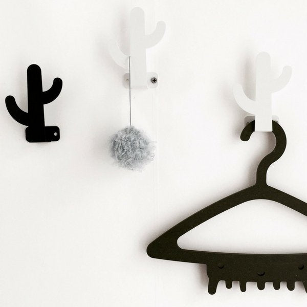 Wood Rabbit Metal Cactus Hook