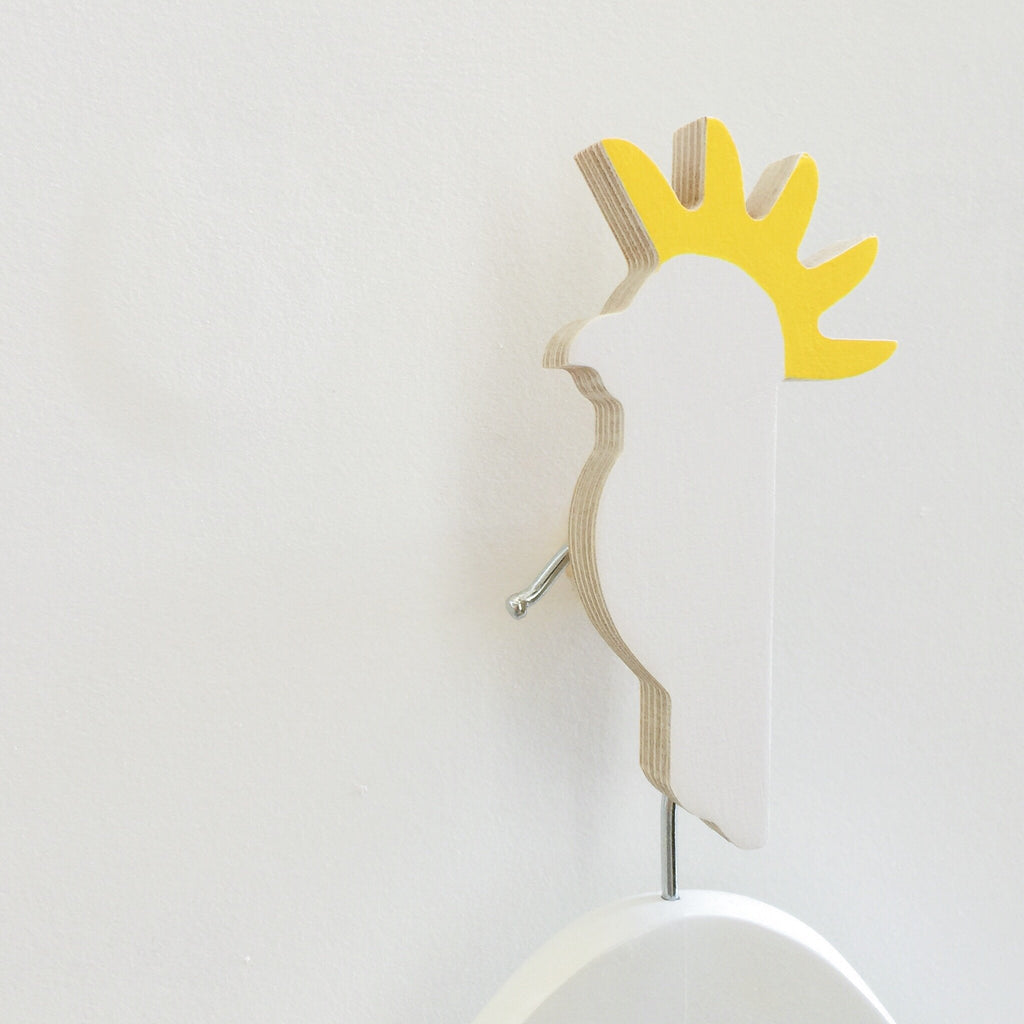 Knobbly Cockatoo  Wooden Wall Hook