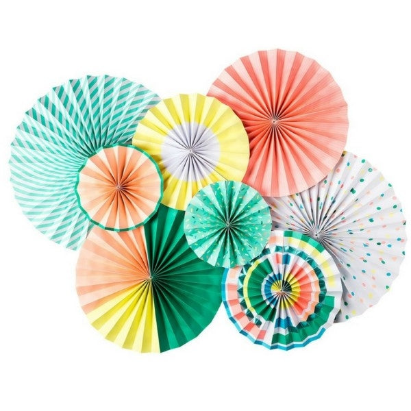 Kids Party Party Fans Set  Multicoloured