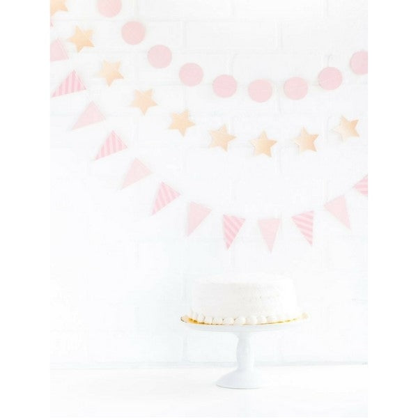 Kids Party Pink Star and Bunting Mini Party Banner Set