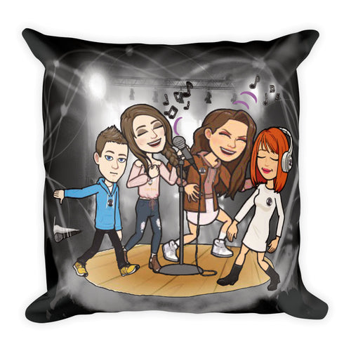 Teen Talks Square Throw Pillow