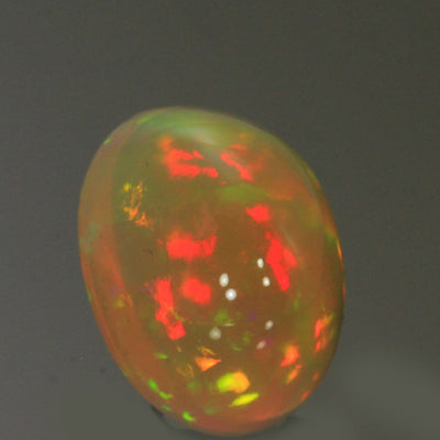 Vivid Colors Oval Cabochon Welo Opal Gemstone 13.0 Carats