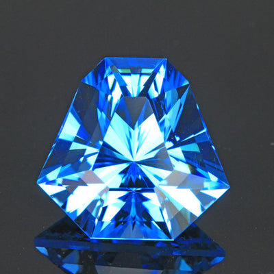Swiss Blue Barion Shield Topaz Gemstone 17.12 Carats