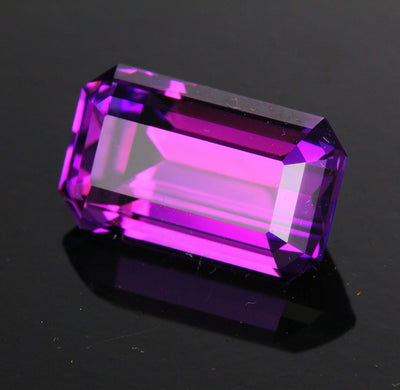 Purple Emerald Cut Rwanda Amethyst Gemstone 7.40 Carats