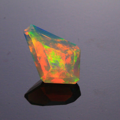 Faceted Kite Shaped Welo Opal Gemstone 4.52 Carats