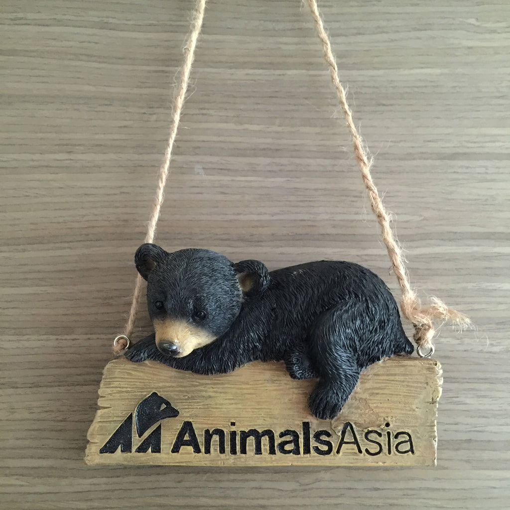 Moon bear door hanger