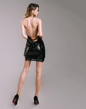 Women Dresses - Sexy Sequined Party Dress