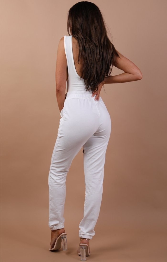 White Basic Sweatpants - Harlow