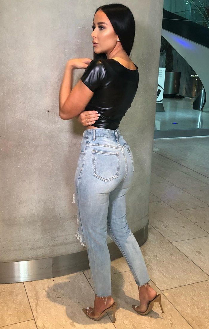 Blue Ripped Straight Leg Jeans - Lucy