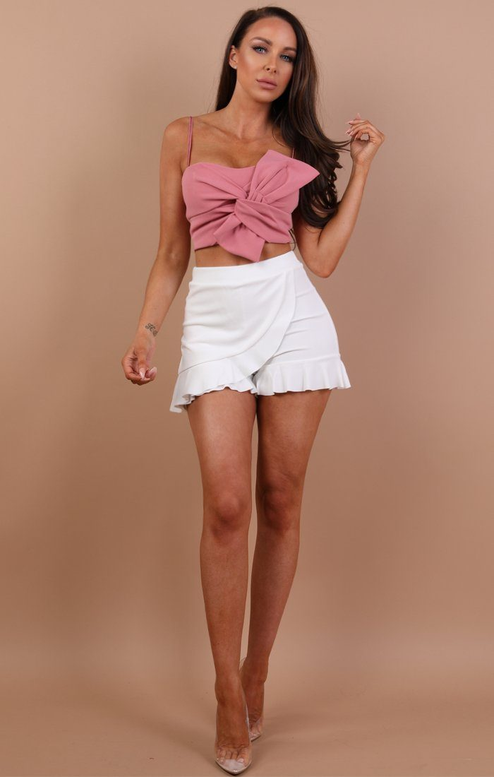 Pink Twisted Front Crop Top - Amery