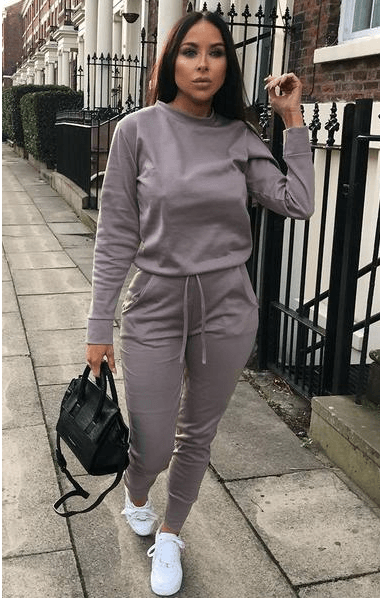 Slate Grey Long Sleeve Loungewear Set - Jinell