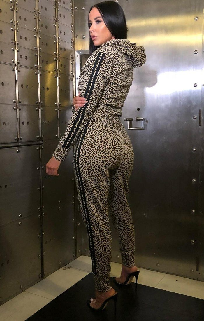 Leopard Print Two Stripe Loungewear - Robyn