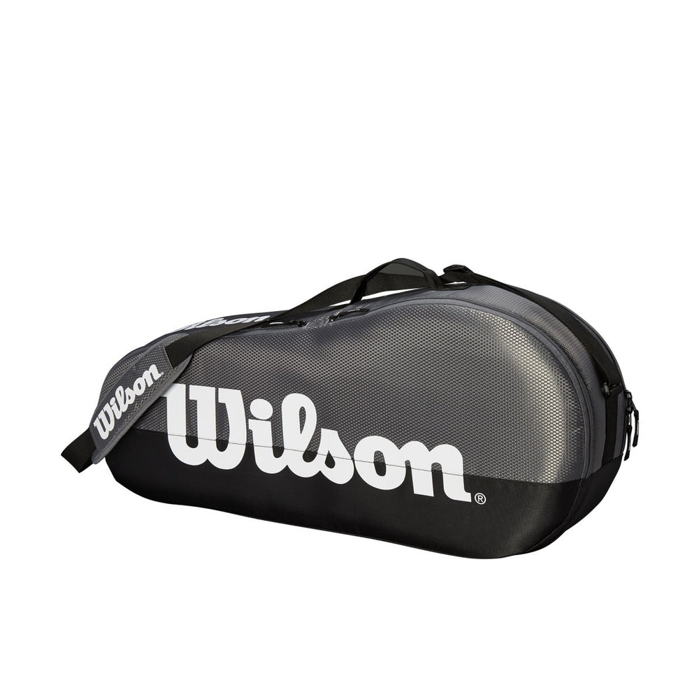 Wilson Federer Team 1 Compartment Small Tennis Bag in Black/White - atr-sports