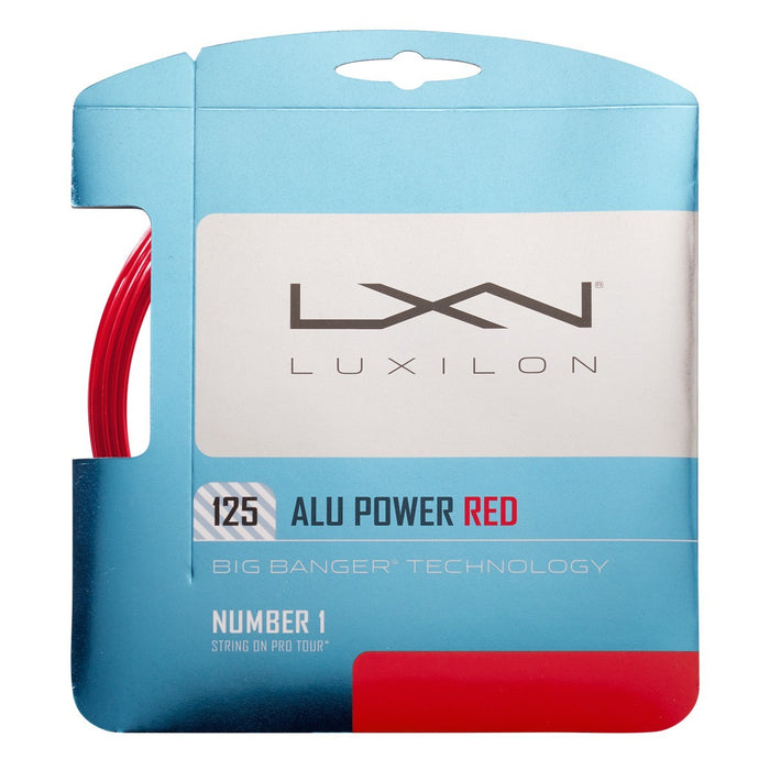 Wilson Luxilon Alu Power 125 Red Tennis String Set - atr-sports