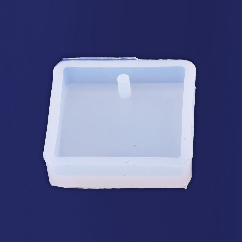 1pcs 25MM Square Cabochon Jewelry Making Mold Mould Resin Crafts with Hole Diy Pendant Findings