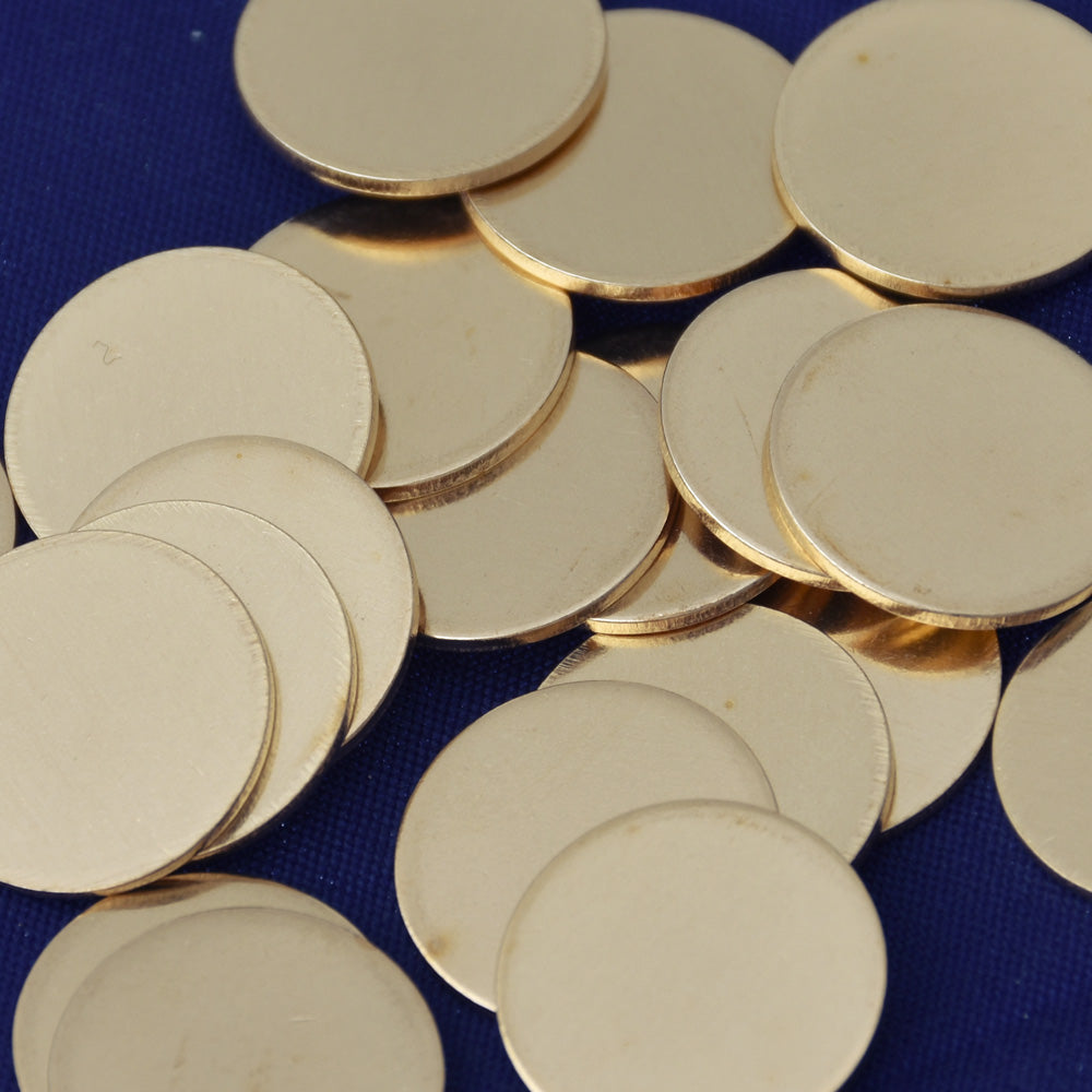 "20pcs about 1/2"" tibetara® Brass Round Stamping Blanks Fantastic Shine 18 Gauges DIY Stamping Blanks Jewelry"
