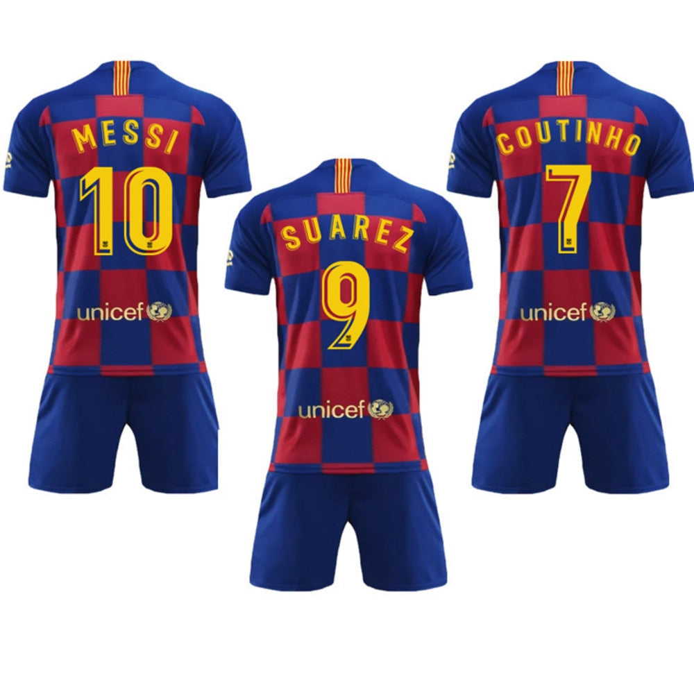 2019 2020 Barcelona Home Plaza Tracksuit New Barcelona 10 Messi Sports Clothing Suit Men Shirt And Pants