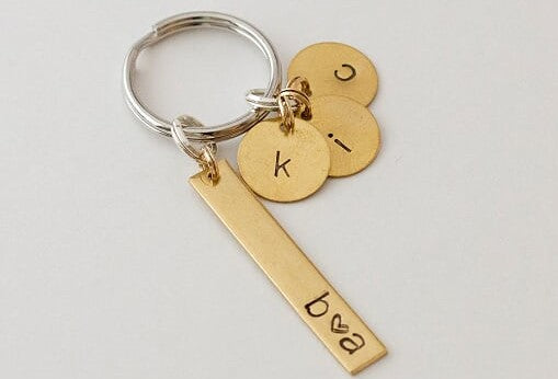 Key Chain with Initials