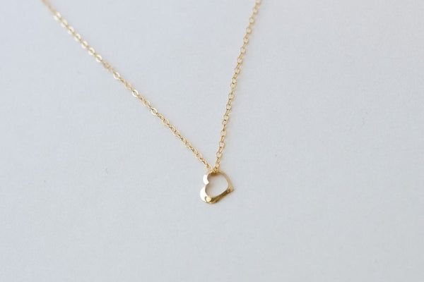 Mini Gold Heart Necklace