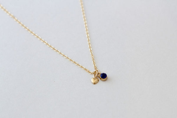 Little's Gold Heart Necklace