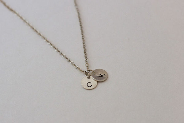 Mini Circle Necklace - Silver