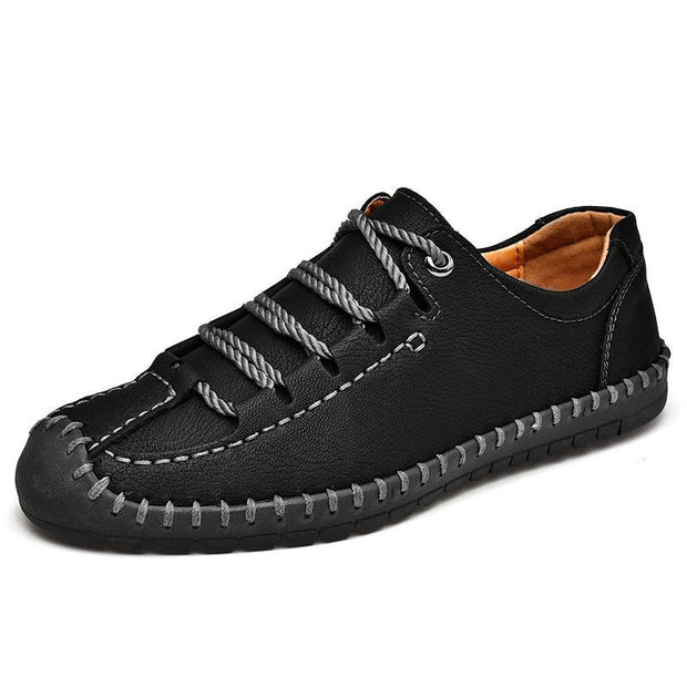 Pearlyo_Men's Hand Stitching Anti-collision Soft Casual Leather Shoes